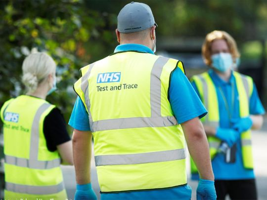 NHS Test and Trace workers