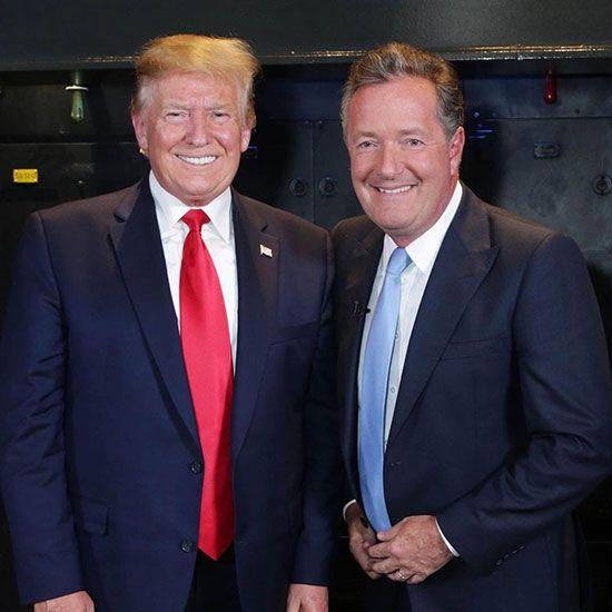 Piers Morgan with Donald Trump