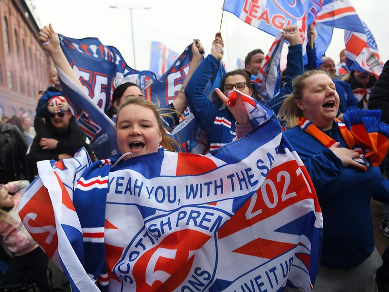 Rangers won the Premiership with six games left to go.
