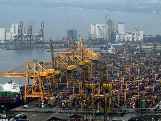 Stock Sri Lanka economy skyline