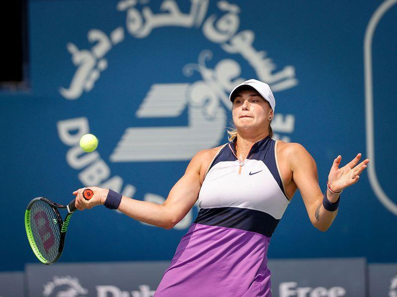 Third seed Aryna Sabalenka avoided the growing list of upsets at the Dubai Duty Free Tennis Championships