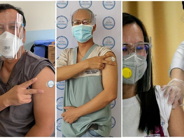 Medical workers in the Philippines