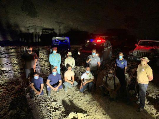 NAT Eight people stuck in Wadi Sheih-1615452793263