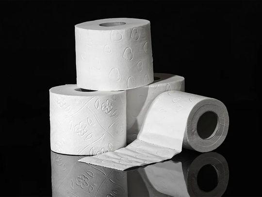 STOCK toilet paper rolls