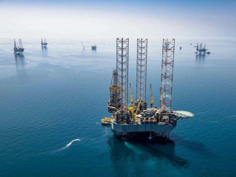 Saudi oil rig