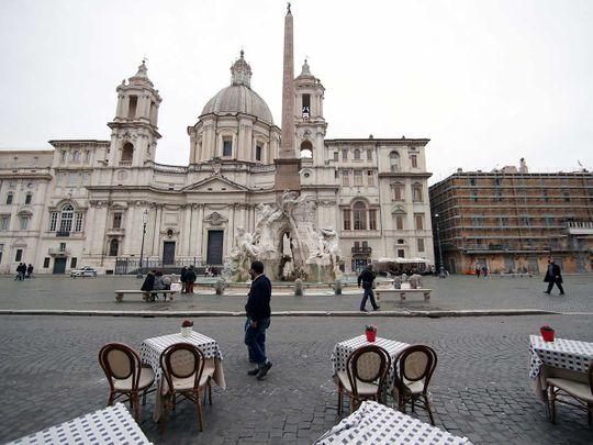 Piazza Navona Italy covid