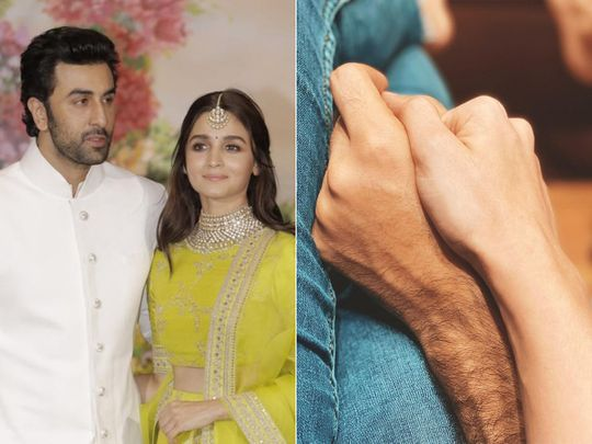 Ranbir Kapoor and Alia Bhatt. The actress posted a picture of them holding hands saying she missed the actor, who was diagnosed with COVID-19