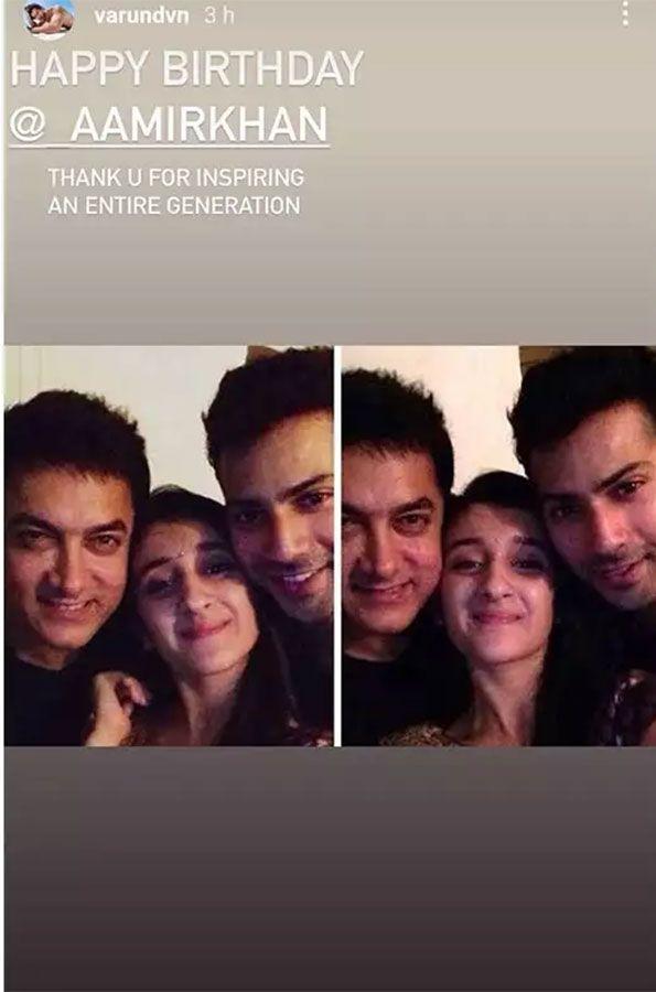 Aamir Khan and Varun Dhawan