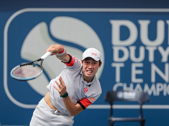 Kei Nishikori made it through in dubai