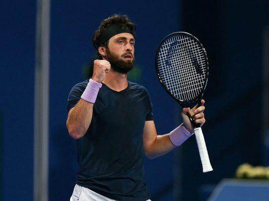 Nikoloz Basilashvili won the Dubai Open