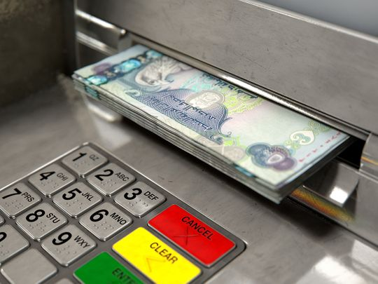ATM cash dirhams