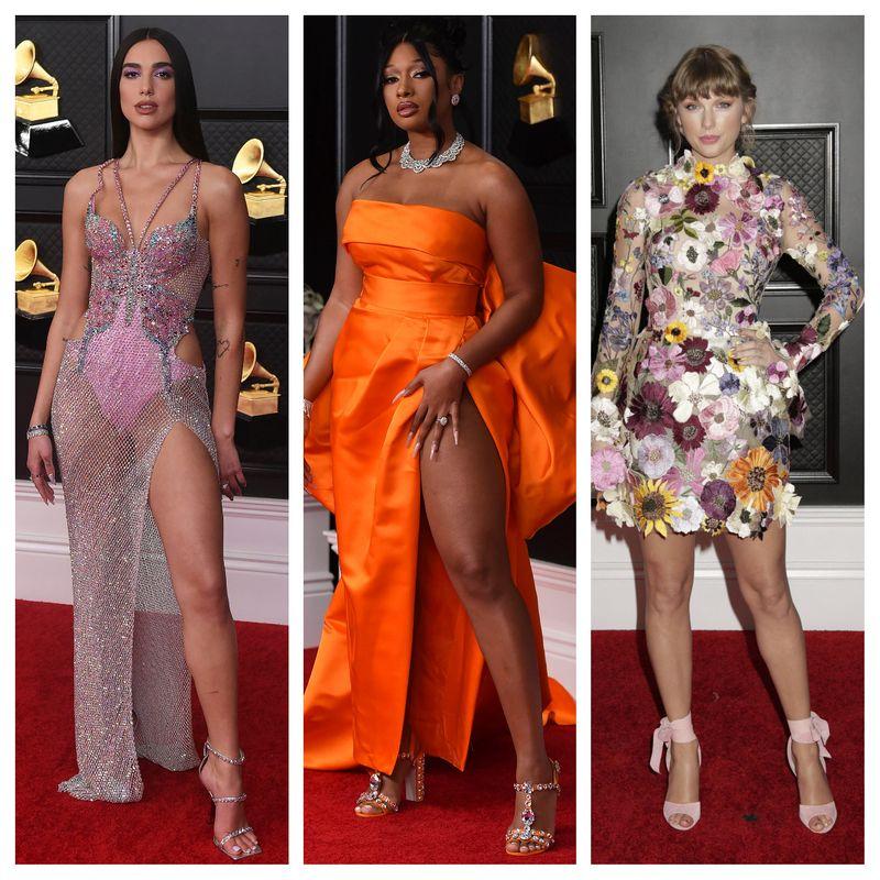 Dua Lipa, Megan Thee Stallion and Taylor Swift
