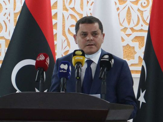 Libya's new interim prime minister Abdul Hamid Dbeibah