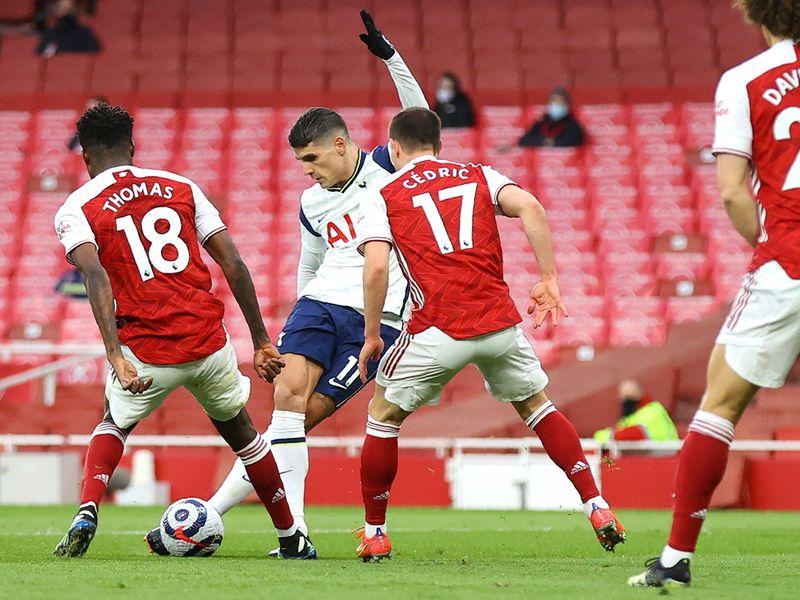 Spurs' Erik Lamela rabona vs Arsenal.