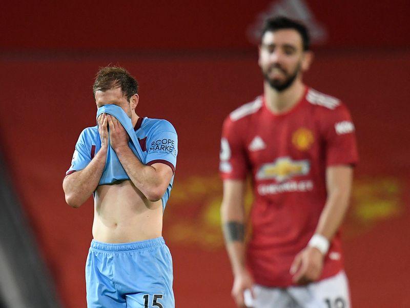 West Ham's Craig Dawson looks dejected after scoring own goal.