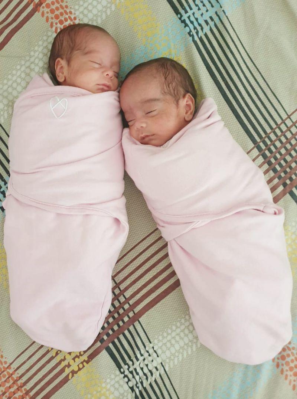Bindu twin babies
