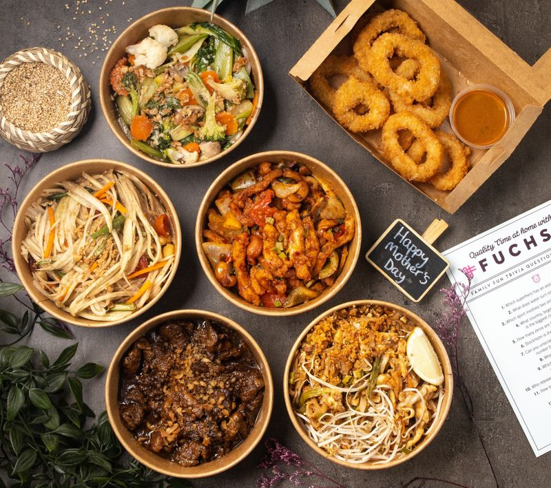FREE GAME WITH FUCHSIA URBAN THAI DELIVERY: Get to know mum with Fuchsia's Mother's Day Bundle which comes with a fun game, available for delivery only on Mother's Day. Gather together & dig into a fantastic Thai meal. The perfect option for a hassle-free family dinner at home.