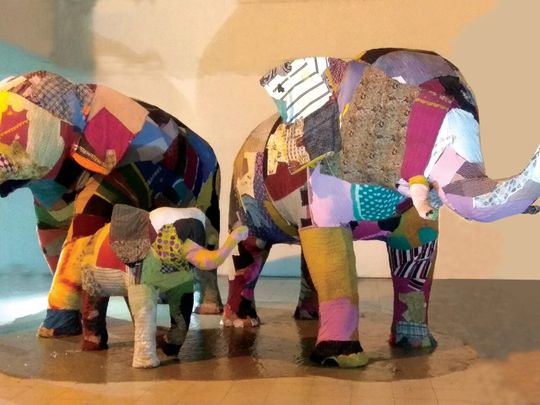Elephant in the Room presented at the Asian Art Biennale Bangladesh 2018-1615973915982