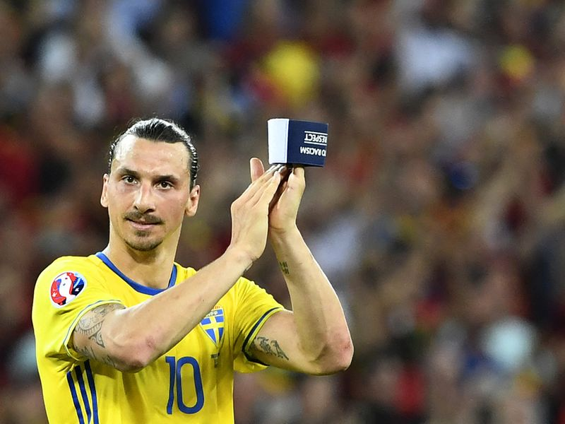 Swedish captain Zlatan Ibrahimovic.