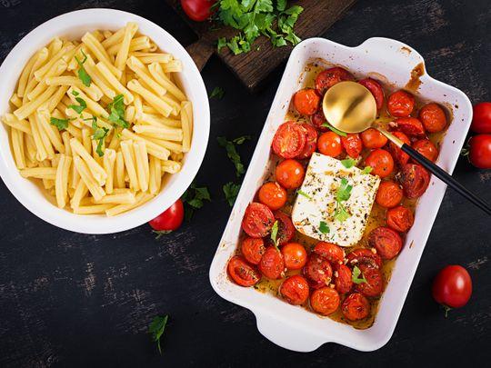 Baked Feta pasta trend