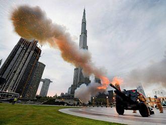 Ramadan cannon fire