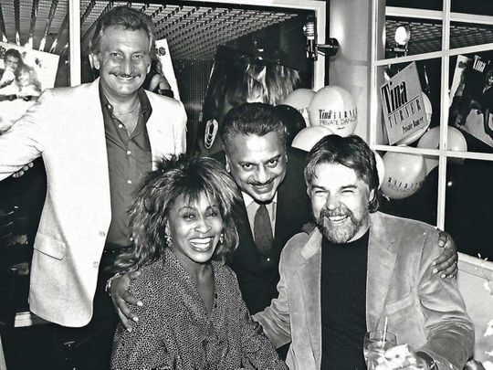 Bhaskar Menon EMI Don Zimmerman, the president of Capitol Records, a subsidiary of EMI, and the Capitol artists Tina Turner and Bob Seger.