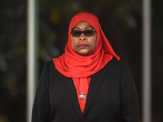Tanzanian President Samia Suluhu Hassan