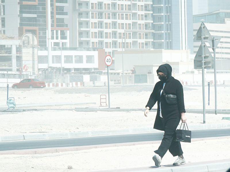 Dust storm in Dubai