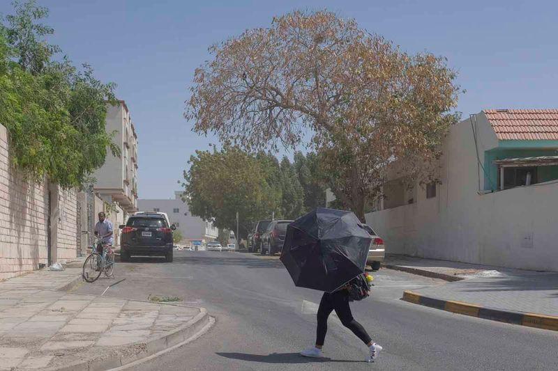 Dusty weather in Sharjah