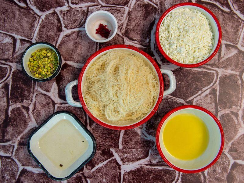 Kunafa ingredients