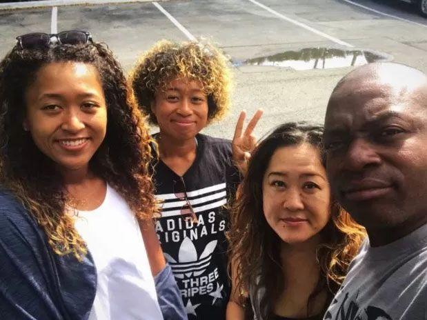 Naomi Osaka and her family.