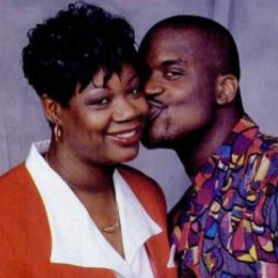 Shaq with his mum.