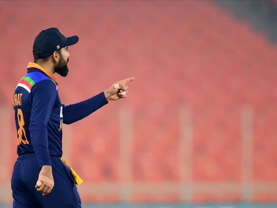 Virat Kohli led India to a T20 series win over England