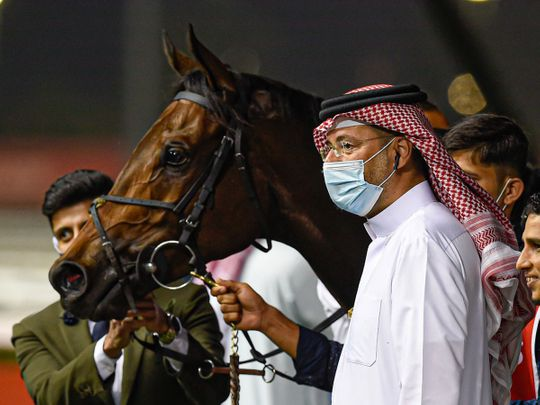 Bahraini owner/trainer Fawzi Nass with Salute The Soldier