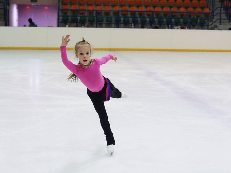 Dubai: Young ice-skater Lyudmila Zykova
