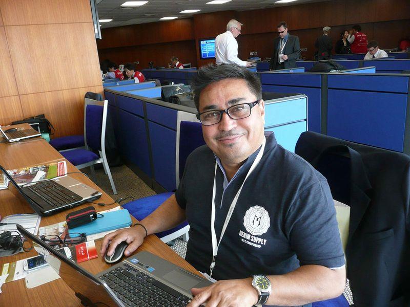 Gulf News' Leslie Wilson at the Dubai World Cup