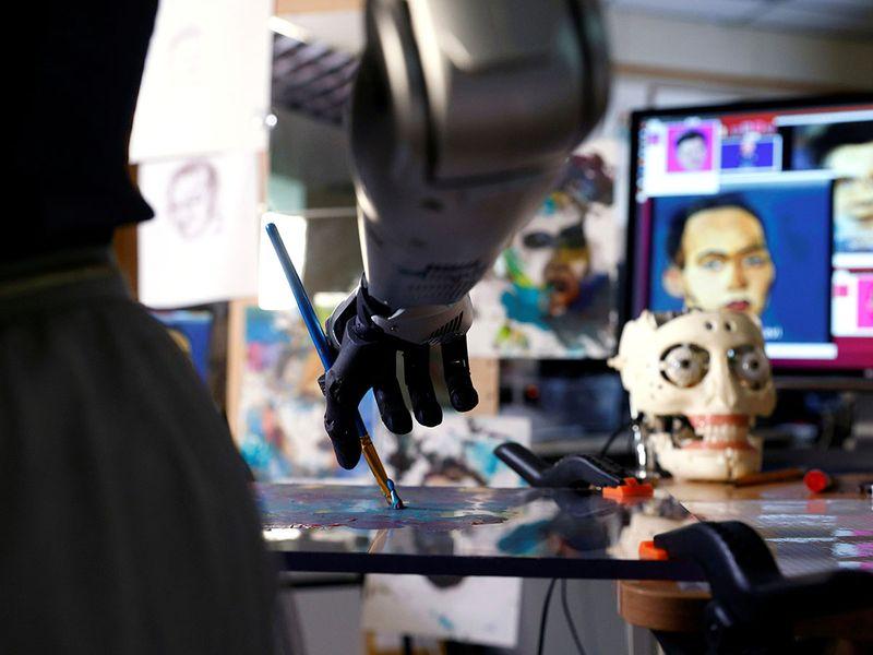 Robot artist Sophia gallery
