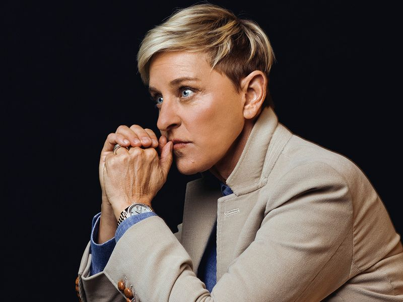 FILE - Ellen DeGeneres in Burbank, Calif. On November 28, 2018. Her daytime talk show has lost more than a million viewers since September 2020, according to research firm Nielsen, averaging 1.5 million viewers in the past six months, down from 2.6 million in the same period last year.  (Ryan Pfluger / The New York Times)