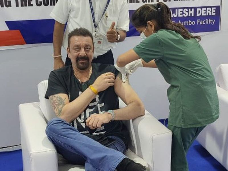 Sanjay Dutt gets the COVID-19 vaccine