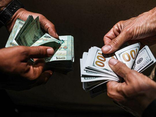 Stock Lebanon currency