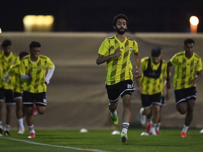 UAE football team in training