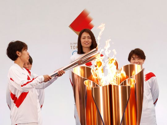 210325 Olympic torch