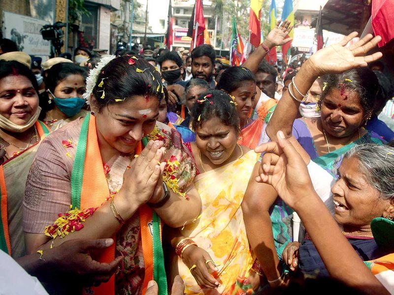 Bhartiya Janta Party (BJP) candidate Khushbu Sundar Tamil Nadu