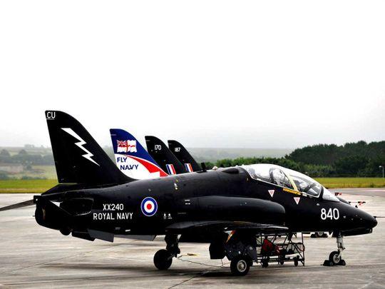 British military jet Hawk T1
