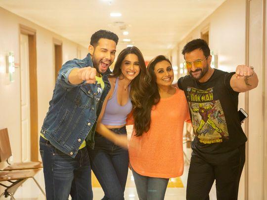 Siddhant Chaturvedi, Sharvari, Rani Mukerji and Saif Ali Khan, the cast of 'Bunty Aur Babli 2'