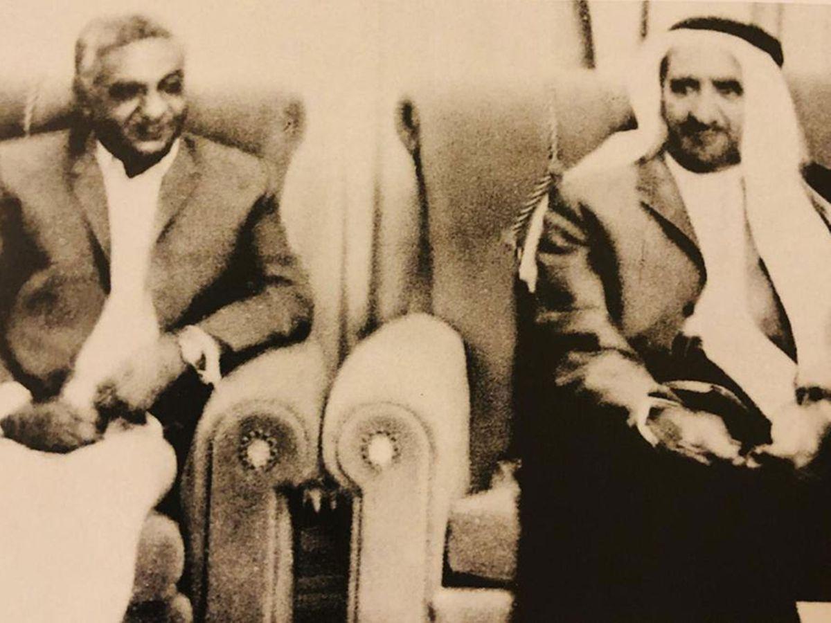Uttamchand Bhatia with Sheikh Rashid Al Maktoum