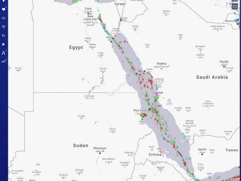 MAP SUEZ CANAL EVER GIVEN