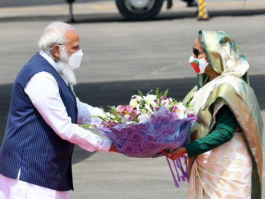 Modi bangladesh Sheikh Hasina