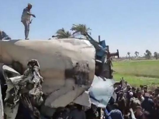 Two trains collided south of Cairo