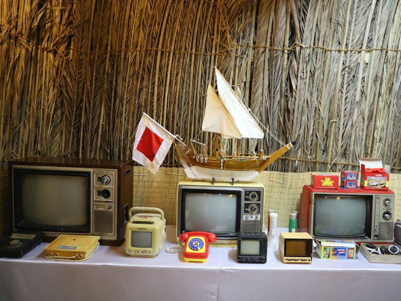 Vintage items on display